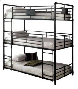 تخت خواب فلزی سه طبقه