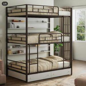 تخت خواب سه طبقه فلزی کدa3