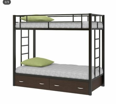 تخت خواب دو طبقه فلزی کدs17