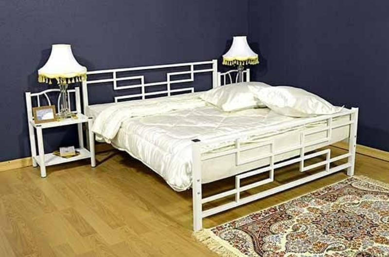 تخت خواب دو نفره فلزی کدm13