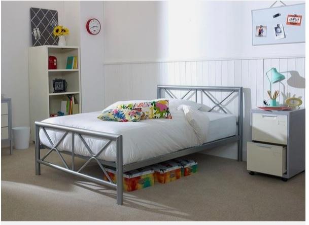 تخت خواب دونفره فلزی کدM19