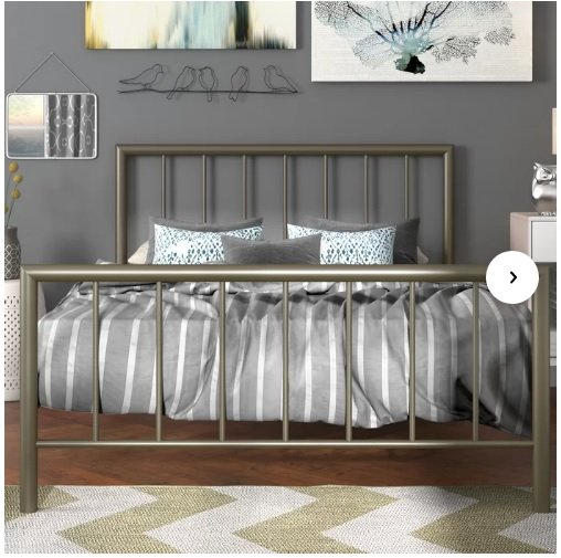تخت خواب دونفره فلزی کدm18