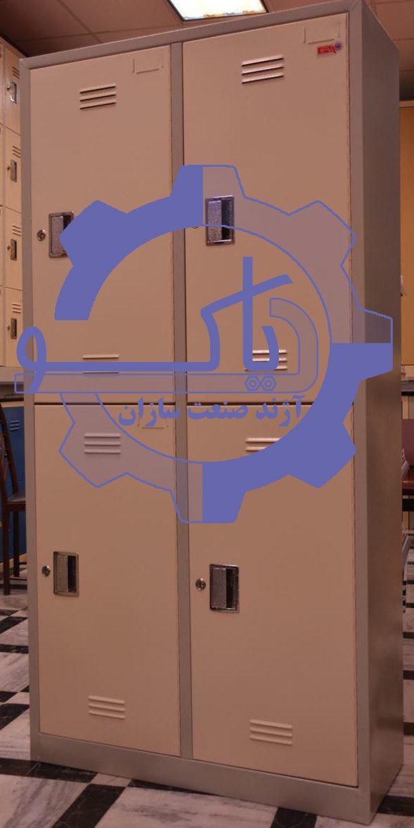 کمد رختکن چهار درب فلزی