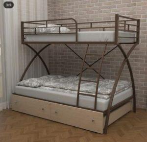 تخت خواب دو طبقه فلزی کد s13