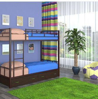 تخت خواب دو طبقه فلزی کد s16