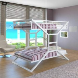 تخت خواب دو طبقه فلزی کد s12